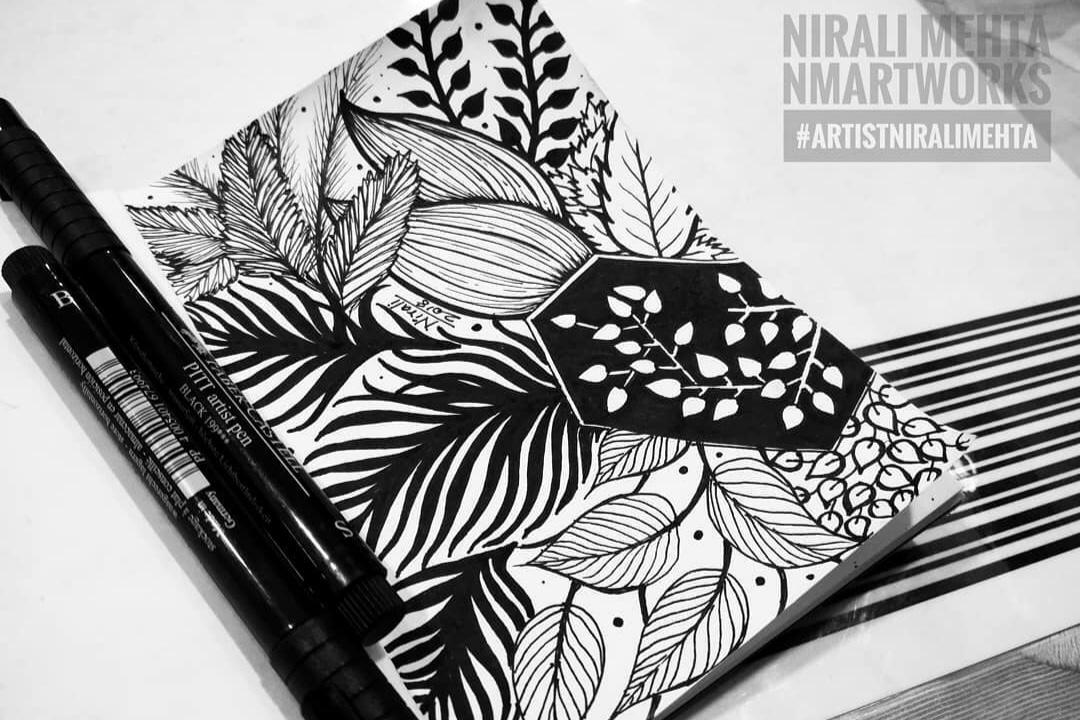 Leaves Doodle Art