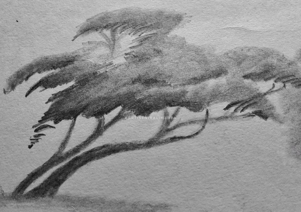 Pencil shading tree