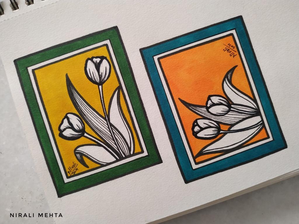 Tulip Design Greeting Cards
